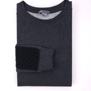 Vince Quilted Sleeve Knit Tee Medium Womens Gray S